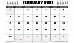 February 2021 Calendar Australia with Holidays
