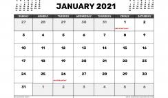 January 2021 Calendar Australia with Holidays