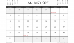 January 2021 Calendar Australia with Holidays