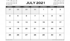 Printable July 2021 Calendar Australia