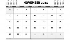 November 2021 Calendar Australia with Holidays