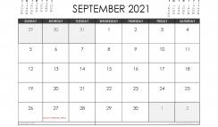 September 2021 Calendar Australia with Holidays