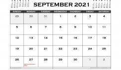 Printable September 2021 Calendar Australia