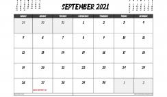 September 2021 Calendar Australia Printable