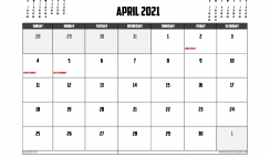 Free Printable April 2021 Calendar Canada