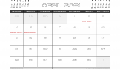 April 2021 Calendar Canada with Holidays