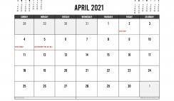 Printable April 2021 Calendar UK