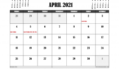 Free Printable April 2021 Calendar UK