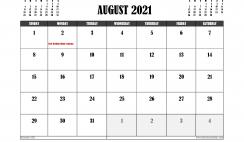 Free Printable August 2021 Calendar Canada