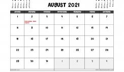 Printable August 2021 Calendar Canada