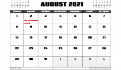 August 2021 Calendar Canada with Holidays
