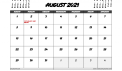 August 2021 Calendar Canada with Holidays