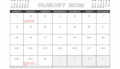 August 2021 Calendar UK with Holidays