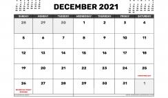 December 2021 Calendar Canada with Holidays
