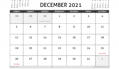 December 2021 Calendar UK with Holidays