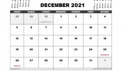 Free December 2021 Calendar UK Printable
