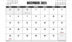 Free Printable December 2021 Calendar UK