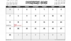 Free Printable February 2021 Calendar Canada