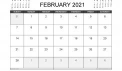 February 2021 Calendar UK with Holidays