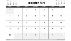 Printable February 2021 Calendar UK