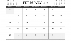 February 2021 Calendar UK with Holidays
