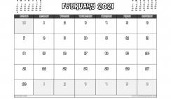 Free Printable February 2021 Calendar UK