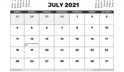 July 2021 Calendar UK with Holidays