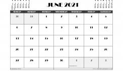 Free June 2021 Calendar Canada Printable