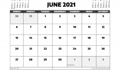 June 2021 Calendar Canada with Holidays