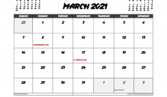 March 2021 Calendar Canada with Holidays