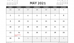May 2021 Calendar Canada with Holidays