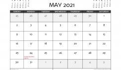 Free Printable May 2021 Calendar Canada