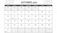 Free Printable October 2021 Calendar Canada
