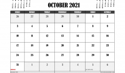 Free Printable October 2021 Calendar UK