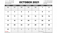 October 2021 Calendar UK with Holidays