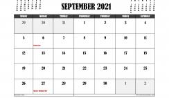 Free Printable September 2021 Calendar Canada