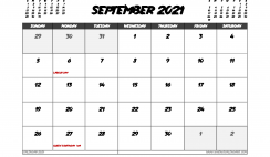 September 2021 Calendar Canada with Holidays