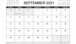 September 2021 Calendar UK with Holidays