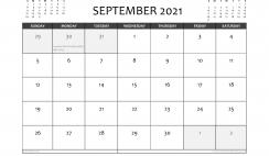 Free Printable September 2021 Calendar UK