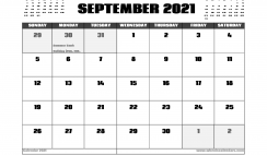 September 2021 Calendar UK with Holidays