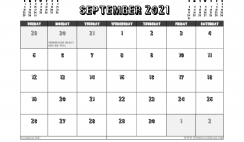 Free Printable September 2021 Calendar UK