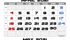 Free Editable April 2021 Calendar