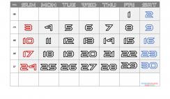 Free Printable April 2022 Calendar