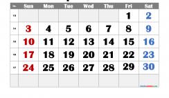 Printable April 2022 Calendar Free