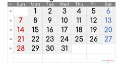 Free Printable August 2022 Calendar