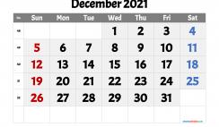Printable December 2021 Calendar
