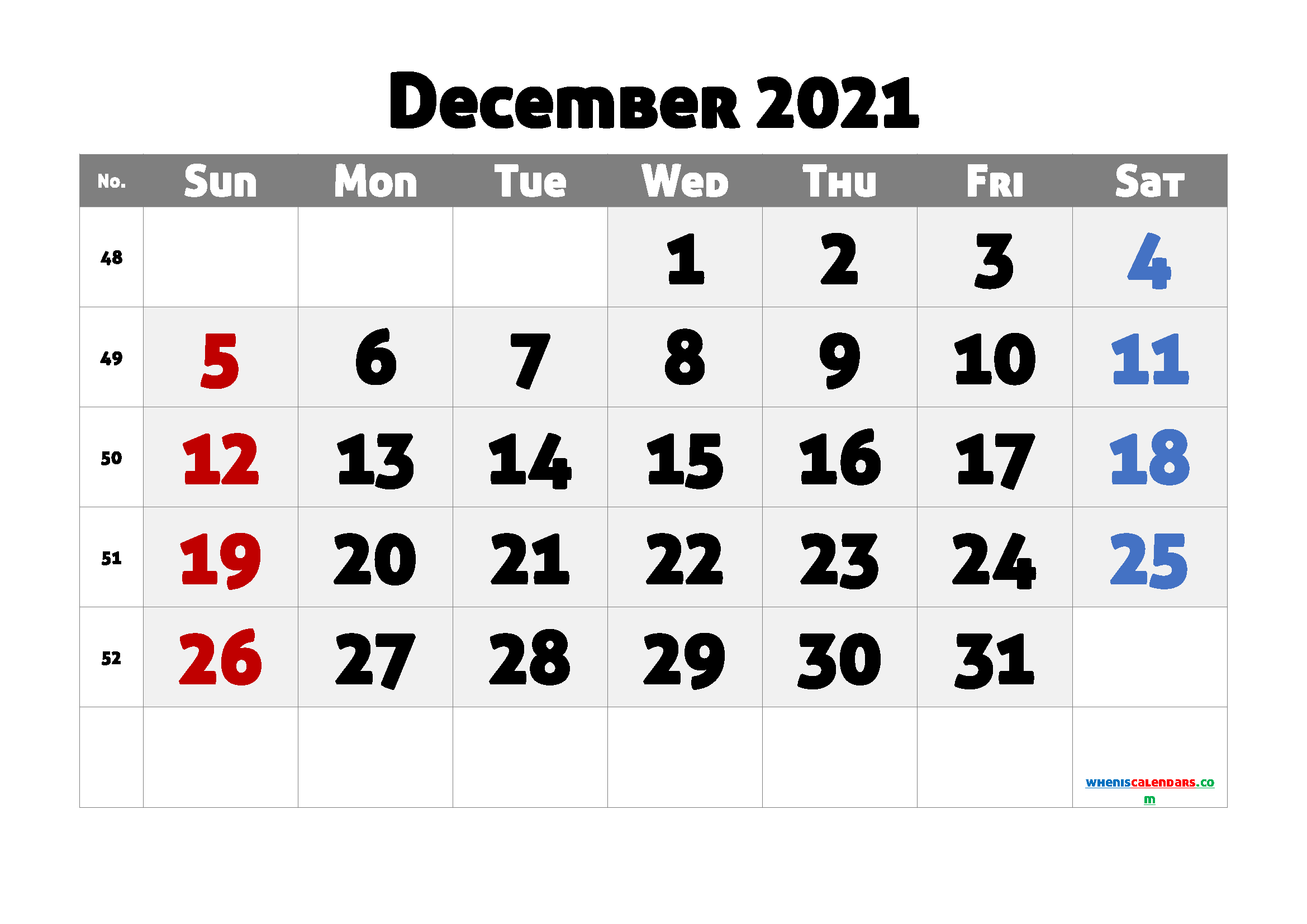 Editable Printable December 2021 Calendar
