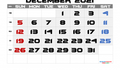 Editable December 2021 Calendar