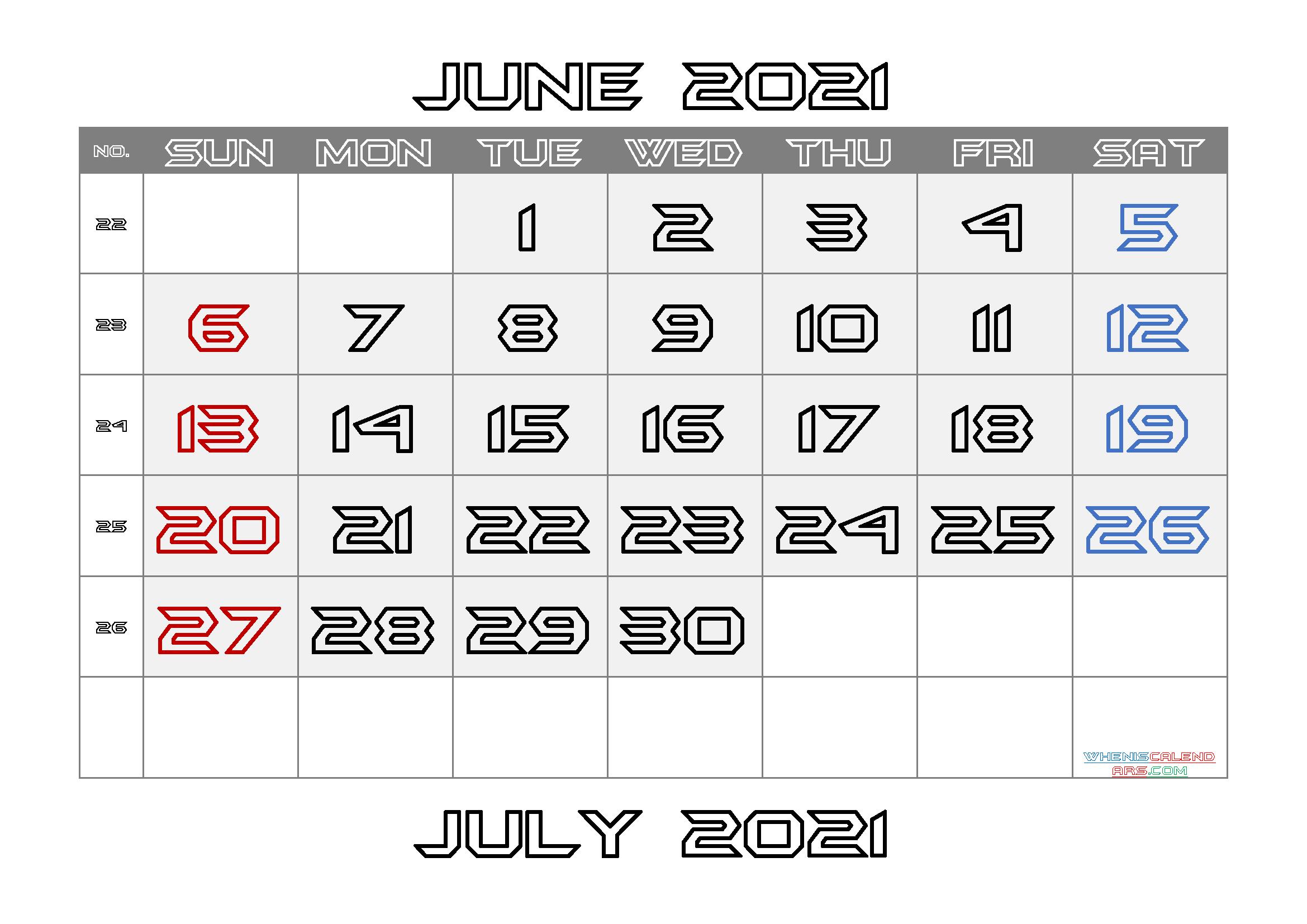 Printable June 2021 Calendar | Template M21BatmanForever3 ...