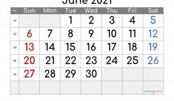 Free Editable June 2021 Calendar